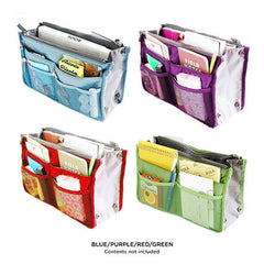 Set of 2: Slim Bag-in-Bag Purse Organizers