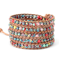 Beautiful Colourful Mess Wrap Bracelet - Florence Scovel - 2