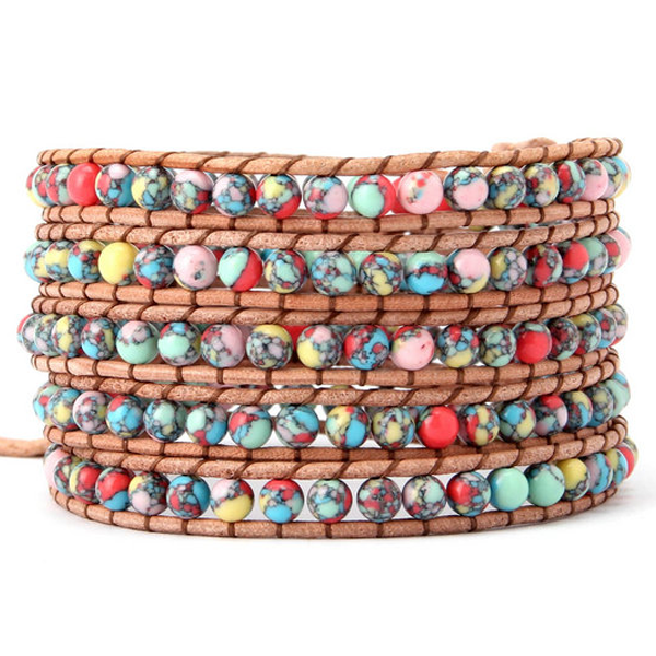 Beautiful Colourful Mess Wrap Bracelet - Florence Scovel - 1