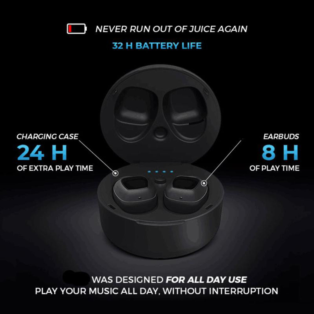 Waterproof Earbuds: Bluetooth 5 & 32h Battery