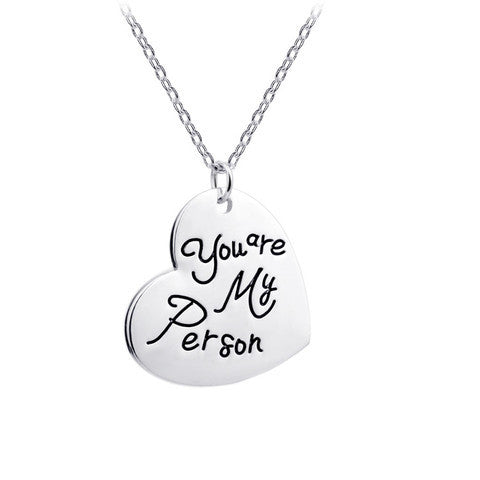 """YOU ARE MY PERSON""- Charm Pendant"