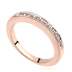 18k Rose Gold Plated Eternity Ring - Florence Scovel - 4