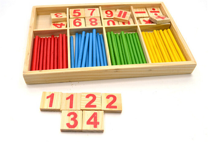 Wooden Blocks and Sticks- Educational Toy