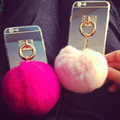Faux Fur Pouf Case for IPhone 6 Plus