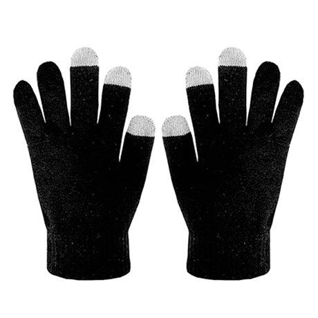 2- Pairs: Ultra-Soft Touchscreen Gloves - Assorted Colors