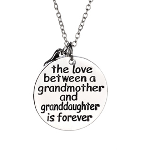 "Forever Love Necklace ""Grandmother & Granddaughter"""