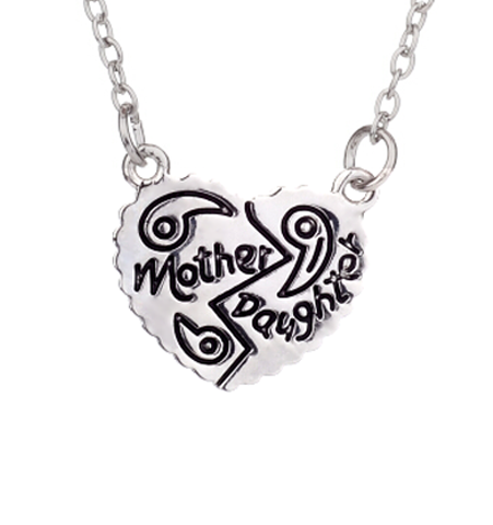 """Mother & Daughter"" Shared Heart Necklace"