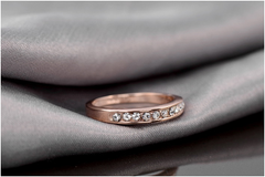 18k Rose Gold Plated Eternity Ring - Florence Scovel - 2