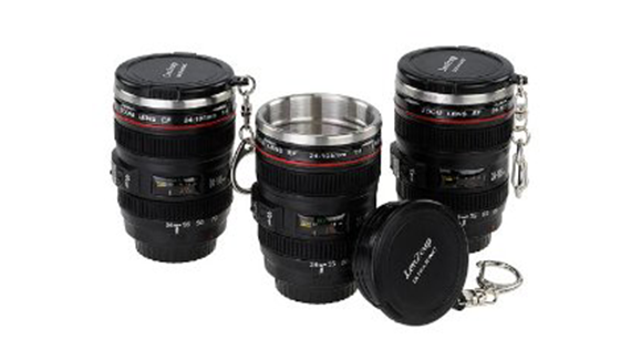 Mini SLR Camera Lens Shot Glasses with Keychain