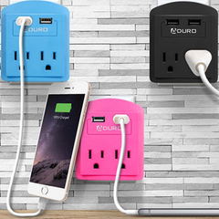 2-Outlet USB Wall Adapter