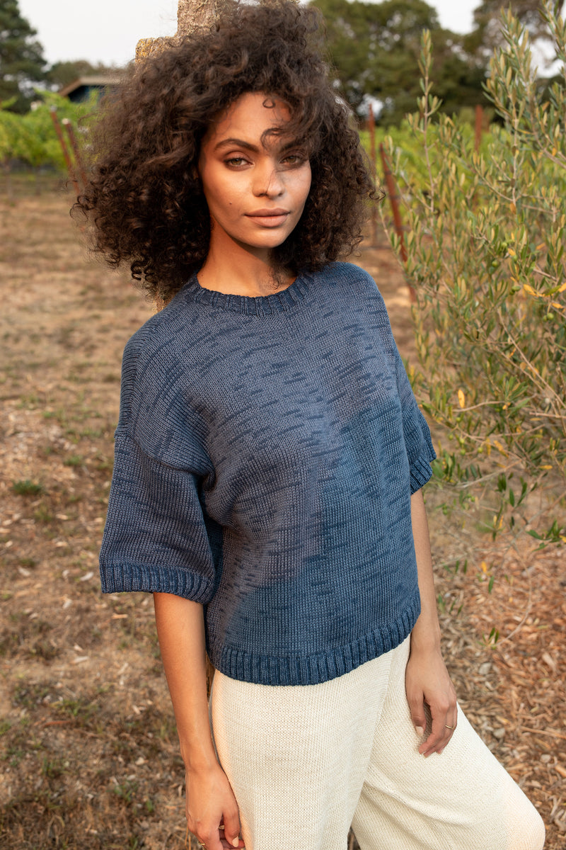 Boxy Short Sleeve Crop Top