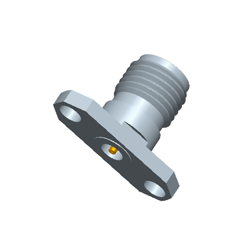 1.85mm Female Field Replaceable Connector 2-Hole Flange, 12.2mm Hole Spacing,  DC-65GHz
