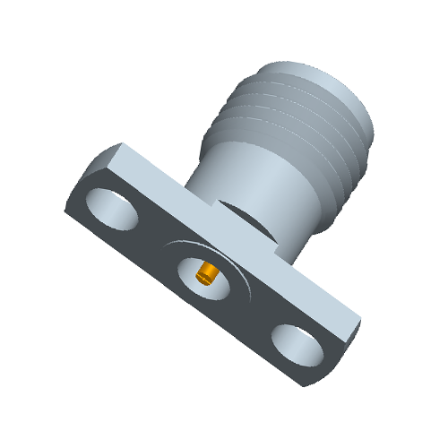 1.85mm Female Field Replaceable Connector 2-Hole Flange, 10.2mm Hole Spacing,  DC-65GHz