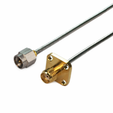 SMA to SMA using  Flexiform 405 Semi-flexible Cable,DC-26.5GHz