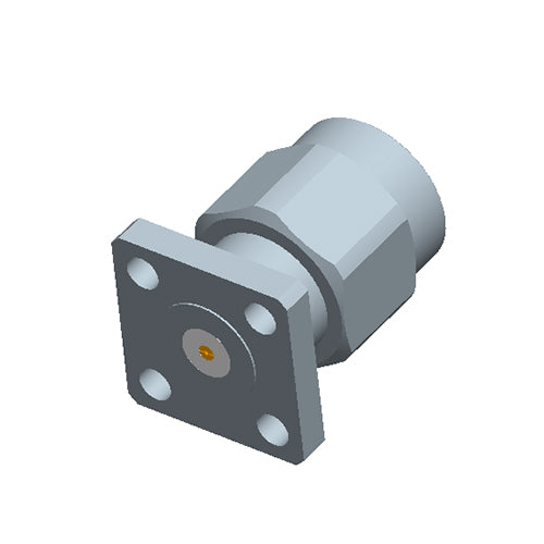 SMA Male Field Replaceable Connector 4-Hole Flange,6.35mm Hole Spacing,  DC-26.5GHz