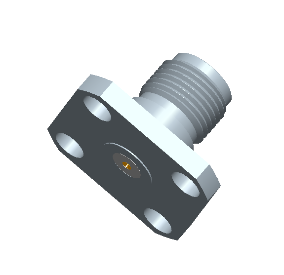 SMA Female Field Replaceable Connector 4-Hole Flange,8.6mm Hole Spacing,  DC-26.5GHz