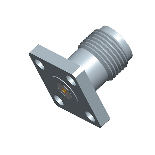 SMA Female Field Replaceable Connector 4-Hole Flange,6.35mm Hole Spacing,  DC-26.5GHz