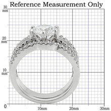 Load image into Gallery viewer, 1W003 - Rhodium Brass Ring with AAA Grade CZ  in Clear