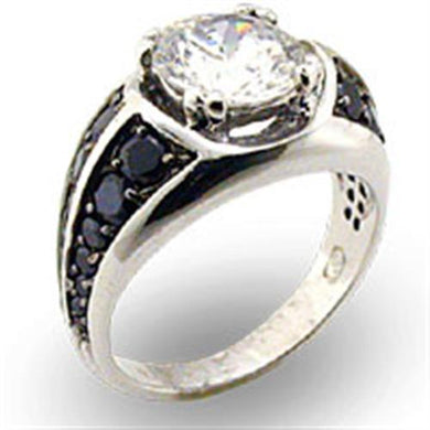 22208 - Special Color 925 Sterling Silver Ring with AAA Grade CZ  in Clear