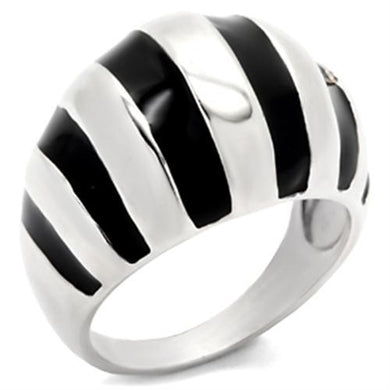 30914 - High-Polished 925 Sterling Silver Ring with Epoxy  in Jet