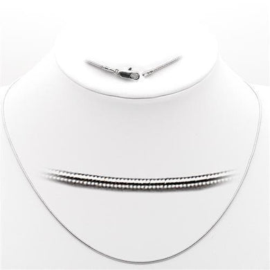 35025 - High-Polished 925 Sterling Silver Chain with No Stone