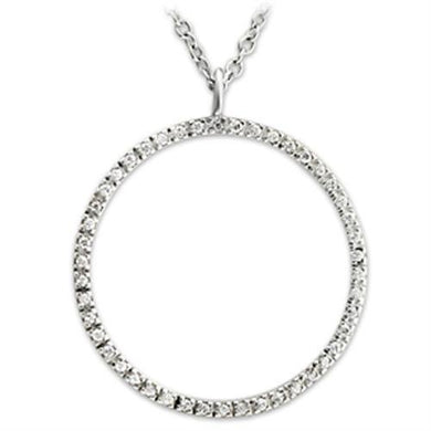 36515 - High-Polished 925 Sterling Silver Pendant with AAA Grade CZ  in Clear