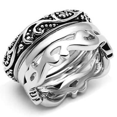 3W048 - Rhodium Brass Ring with No Stone