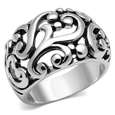 3W052 - Rhodium Brass Ring with No Stone