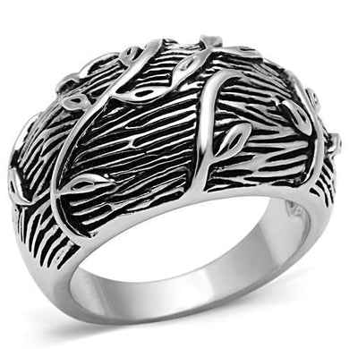 3W064 - Rhodium Brass Ring with No Stone