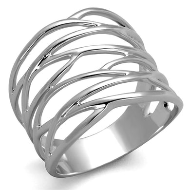 3W1065 - Rhodium Brass Ring with No Stone