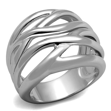 3W1067 - Rhodium Brass Ring with No Stone