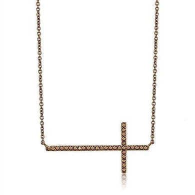 3W1131 - IP Coffee light Brass Chain Pendant with AAA Grade CZ  in Light Coffee