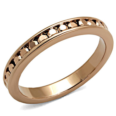 3W1139 - IP Rose Gold(Ion Plating) Brass Ring with AAA Grade CZ  in Metallic Light Gold