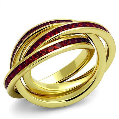 3W1328 - Gold Brass Ring with Synthetic Synthetic Glass in Siam