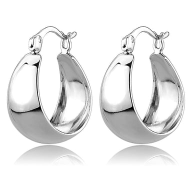 3W1402 - Rhodium Brass Earrings with No Stone