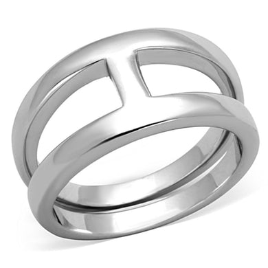 3W603 - Rhodium Brass Ring with No Stone