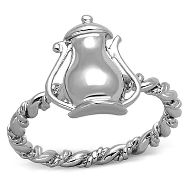 3W607 - Rhodium Brass Ring with No Stone