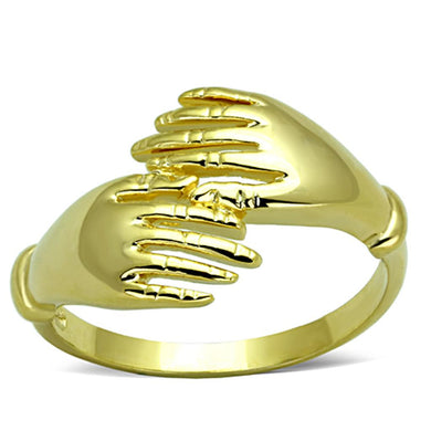 3W834 - Gold Brass Ring with No Stone