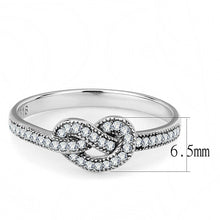 Load image into Gallery viewer, DA053 - High polished (no plating) Stainless Steel Ring with AAA Grade CZ  in Clear