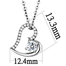 Load image into Gallery viewer, DA084 - High polished (no plating) Stainless Steel Chain Pendant with AAA Grade CZ  in Clear