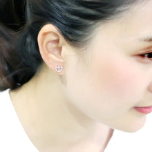 Load image into Gallery viewer, LO4673 - Rhodium Brass Earrings with Top Grade Crystal  in Clear