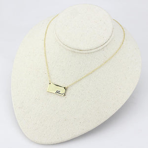 LO4699 - Flash Gold Brass Necklace with Top Grade Crystal  in Clear