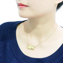 Load image into Gallery viewer, LO4699 - Flash Gold Brass Necklace with Top Grade Crystal  in Clear