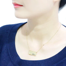Load image into Gallery viewer, LO4700 - Flash Gold Brass Necklace with Top Grade Crystal  in Clear
