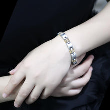 Load image into Gallery viewer, LO4738 - Gold+Rhodium White Metal Bracelet with No Stone