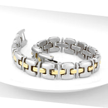 Load image into Gallery viewer, LO4739 - Gold+Rhodium White Metal Bracelet with No Stone