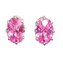 Load image into Gallery viewer, LOAS1369 - Sterling Silver Earrings with AAA Grade CZ in Pink