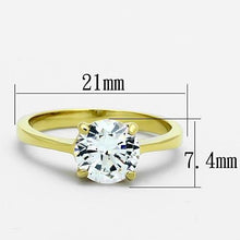Load image into Gallery viewer, TK1405 - IP Gold(Ion Plating) Stainless Steel Ring with AAA Grade CZ  in Clear