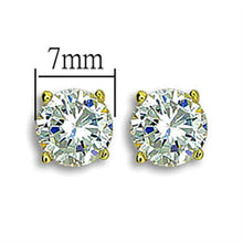 Load image into Gallery viewer, TK1504 - IP Gold(Ion Plating) Stainless Steel Earrings with AAA Grade CZ  in Clear