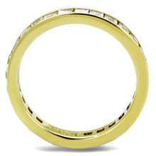 Load image into Gallery viewer, TK2344G - IP Gold(Ion Plating) Stainless Steel Ring with AAA Grade CZ  in Clear